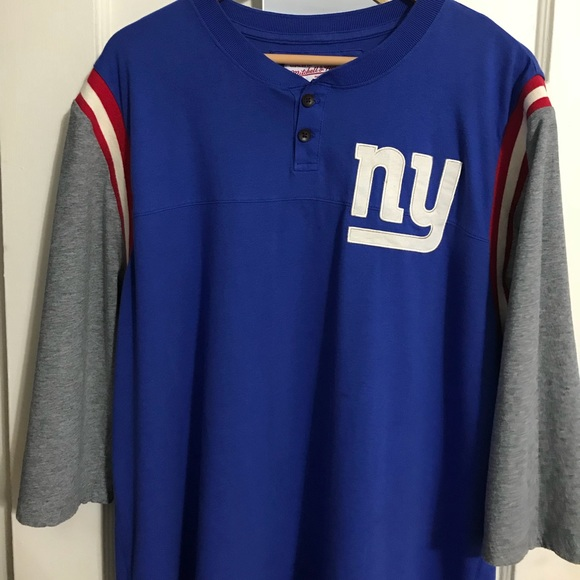 save off 289f9 011b6 Mitchell and Ness New Giants Throwback